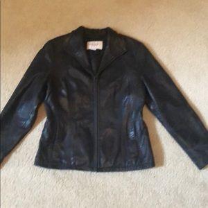 Women's Nine West Leather Jacket